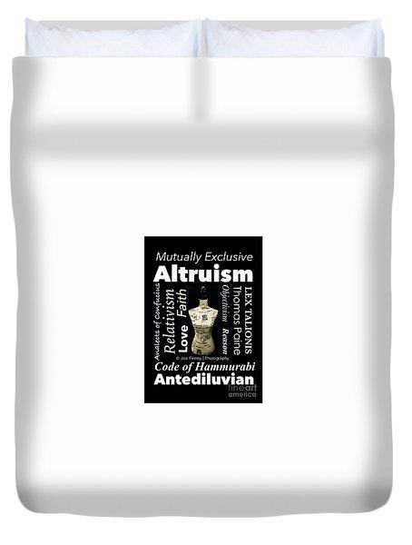 True Altruism - No.9188 Duvet Cover