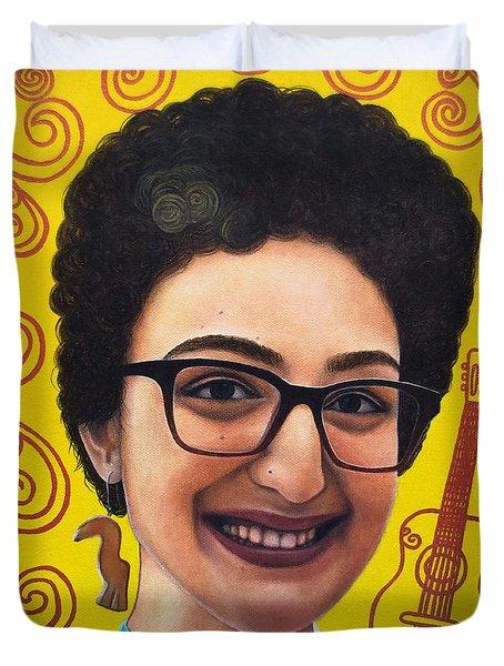 True Beauty - Sheba Devonish Duvet Cover by Malinda Prudhomme