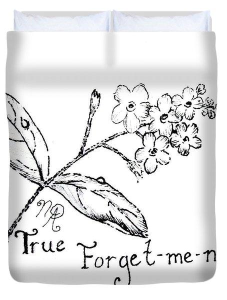 True Forget-me-not Duvet Cover