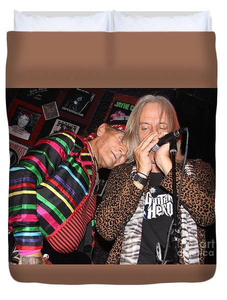 Duvet Cover featuring the photograph True Pirate Rockers by Steven Macanka