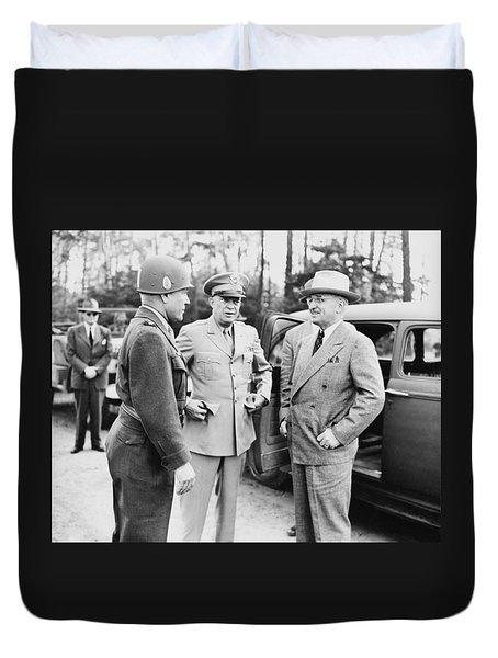 Truman Eisenhower And Hickey  Duvet Cover by War Is Hell Store