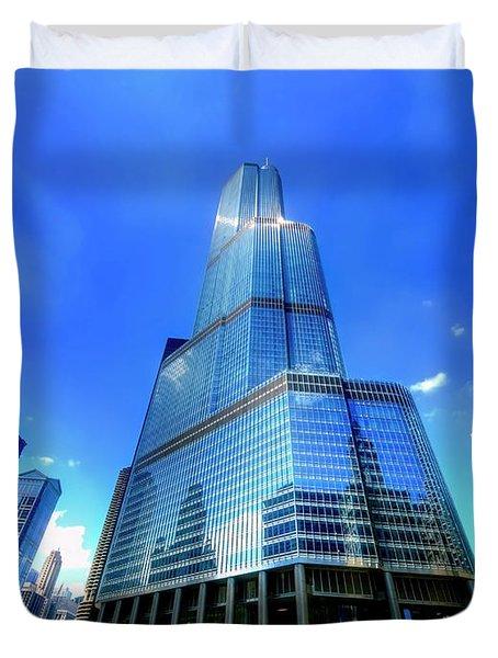 Trump Tower Chicago Il  Duvet Cover