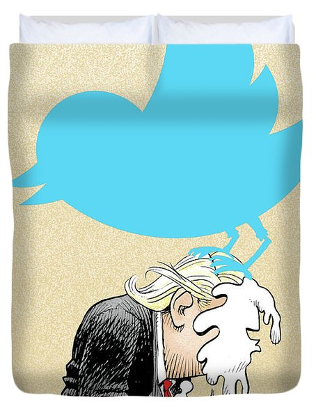 Trump Twitter Poop Duvet Cover
