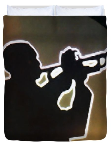 Trumpet - Classic Jazz Music All Night Long Duvet Cover by Christine Till