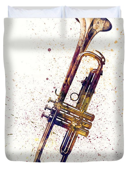 Trumpet Abstract Watercolor Duvet Cover