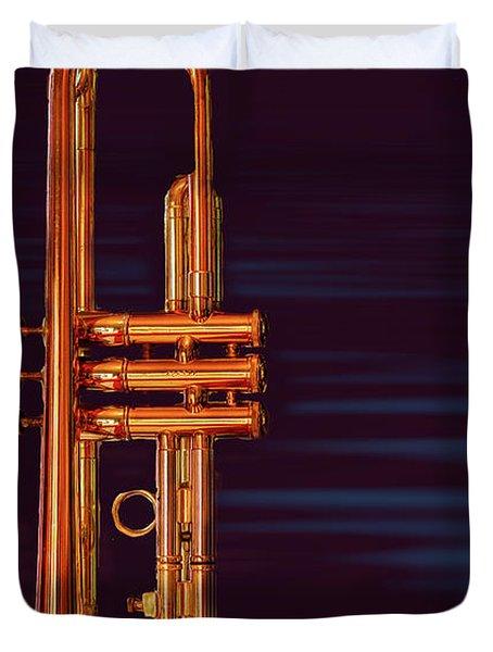 Trumpet-close Up Duvet Cover