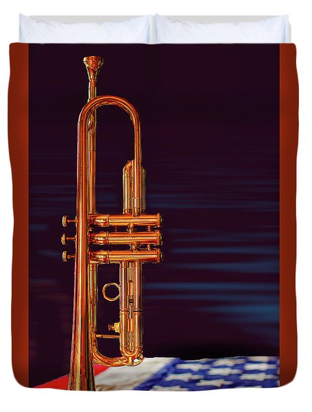 Trumpet-close Up Duvet Cover