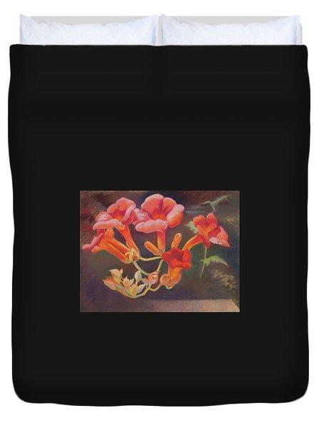 Trumpet Flowers Duvet Cover