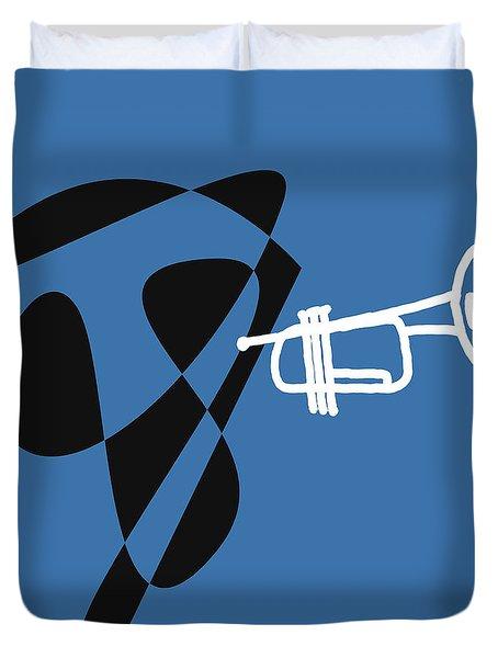 Trumpet In Blue Duvet Cover by David Bridburg