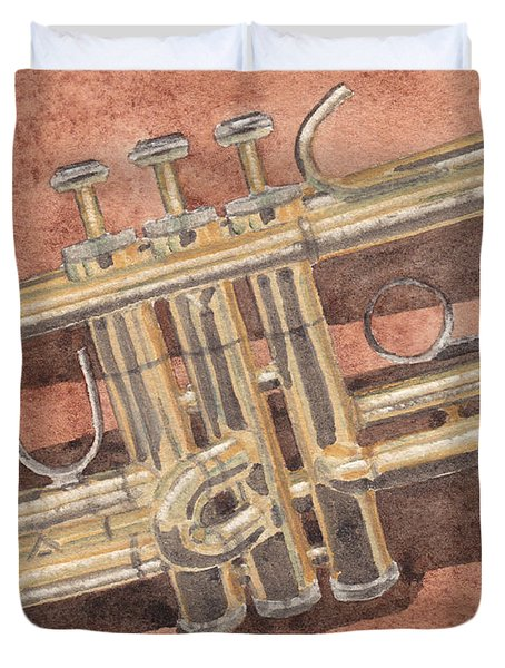 Trumpet Duvet Cover by Ken Powers
