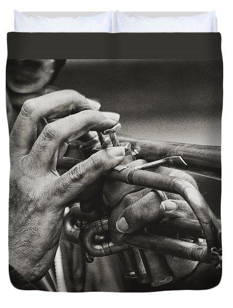 Trumpet Solo Duvet Cover