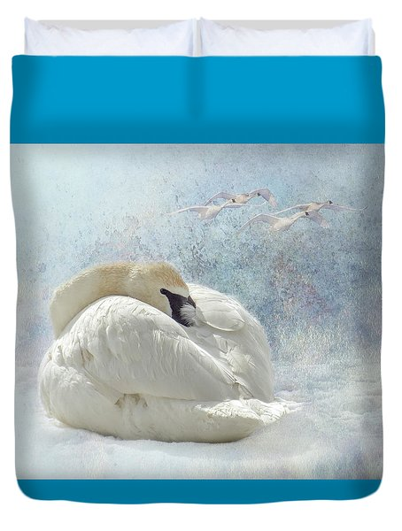 Trumpeter Textures #1 - Swan Feather Duvet Cover