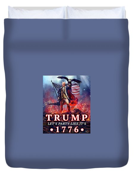 Duvet Cover featuring the photograph Trumpnado by Don Olea
