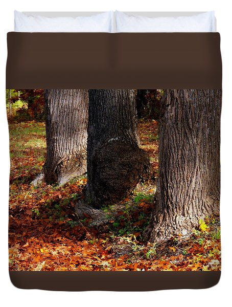 Trunk And Leaves Duvet Cover by Joyce Kimble Smith