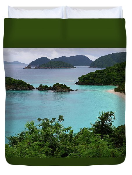 Trunk Bay At U.s. Virgin Islands National Park Duvet Cover