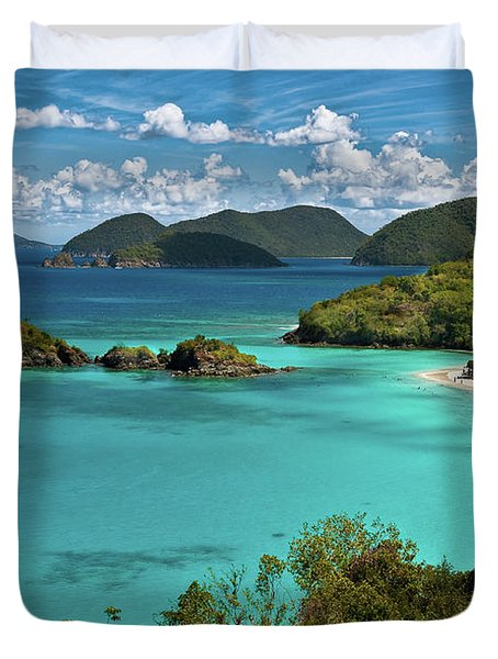 Trunk Bay Overlook Duvet Cover by Harry Spitz