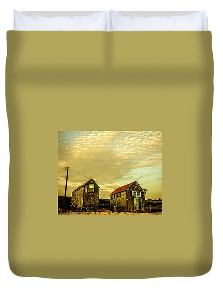 Truro Beach Houses Duvet Cover
