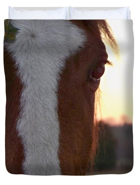 Duvet Cover featuring the photograph Trusting by Betty Northcutt