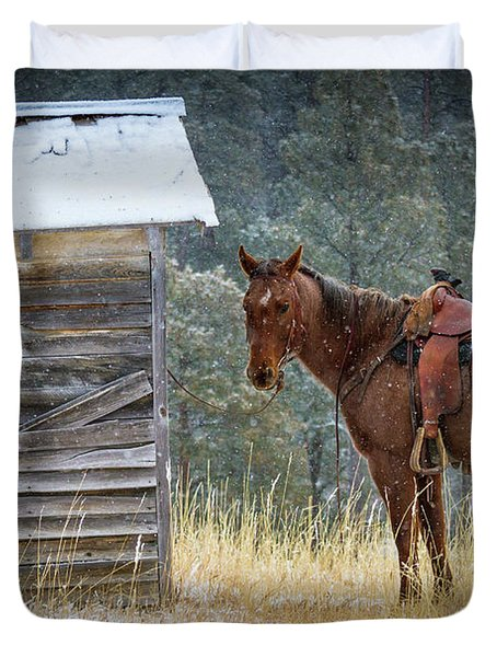 Trusty Horse  Duvet Cover