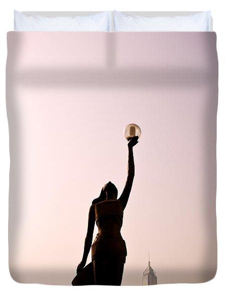 Tsim Sha Tsui K Duvet Cover by Ray Laskowitz - Printscapes