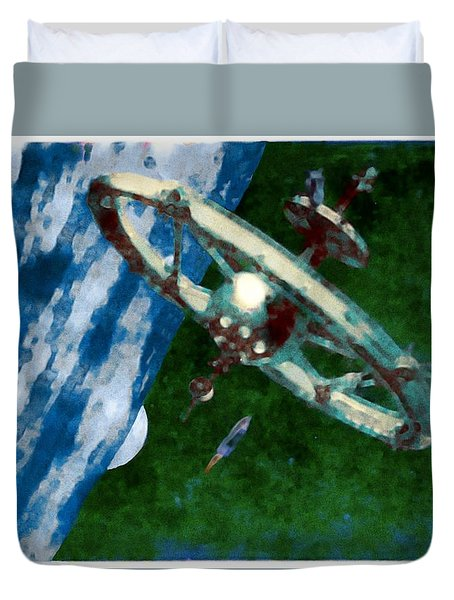 Tsiolkovsky Station In Earth Orbit Duvet Cover