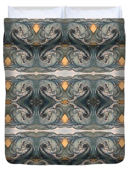 Tsunami Mirror Pattern Duvet Cover