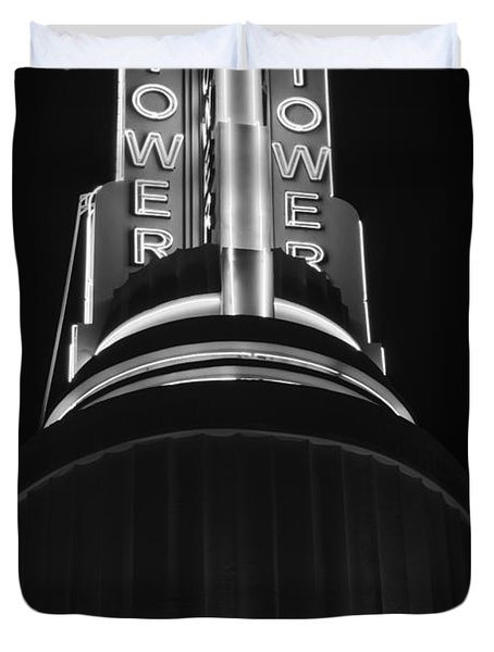 Ttower Theatre  Black And White Duvet Cover