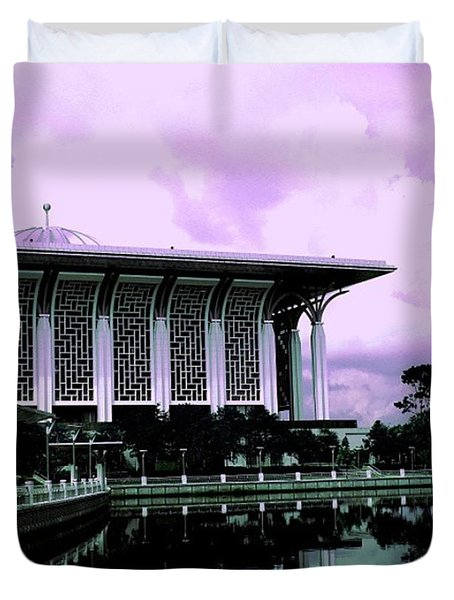 Tuanku Mizan Zainal Abidin #mosque Duvet Cover by Pierz Photos Work