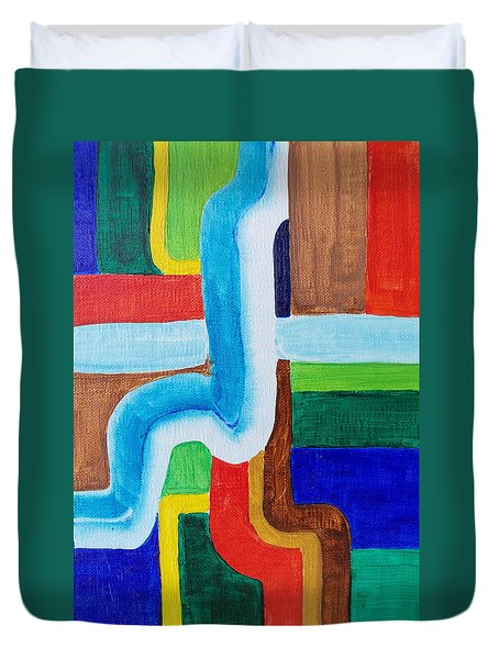 Tubular Duvet Cover by Michele Myers