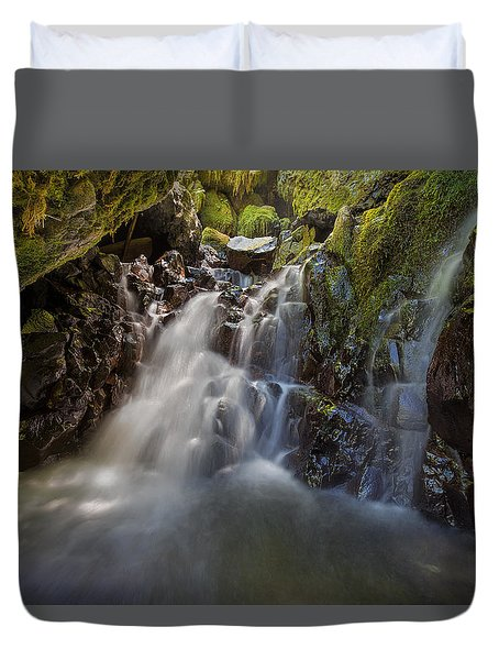 Tucked Away In Gorton Creek Duvet Cover by David Gn