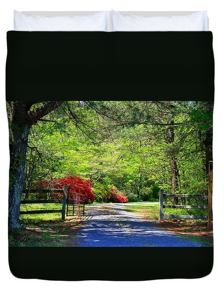 Duvet Cover featuring the photograph Tucked Away by Kathryn Meyer