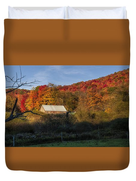 Duvet Cover featuring the photograph Tucked Away by Mark Papke