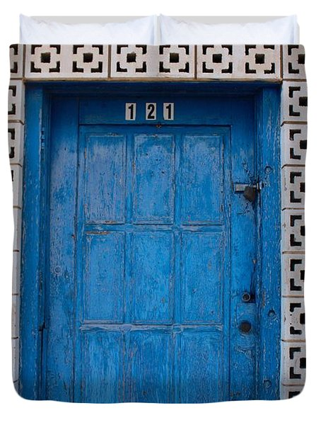 Tucumcari Door New Mexico  Duvet Cover