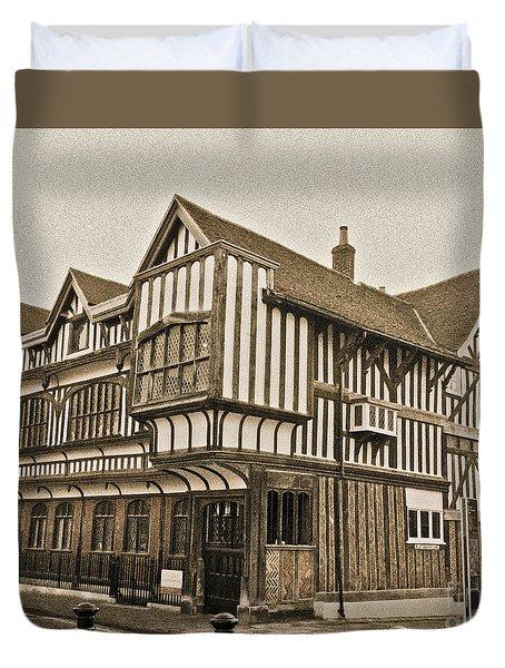 Tudor House Southampton Duvet Cover by Terri Waters