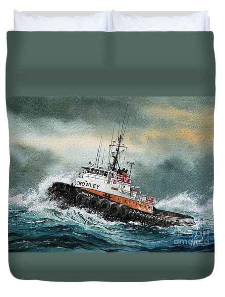 Tugboat Hunter Crowley Duvet Cover