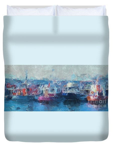 Tugs Together  Duvet Cover