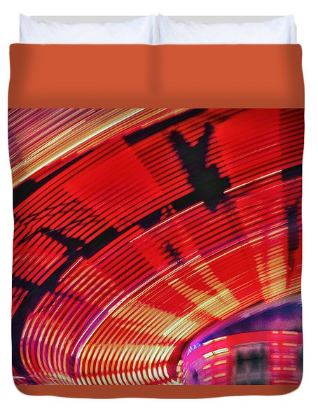 Duvet Cover featuring the photograph Tulare Fairgrounds by John Swartz