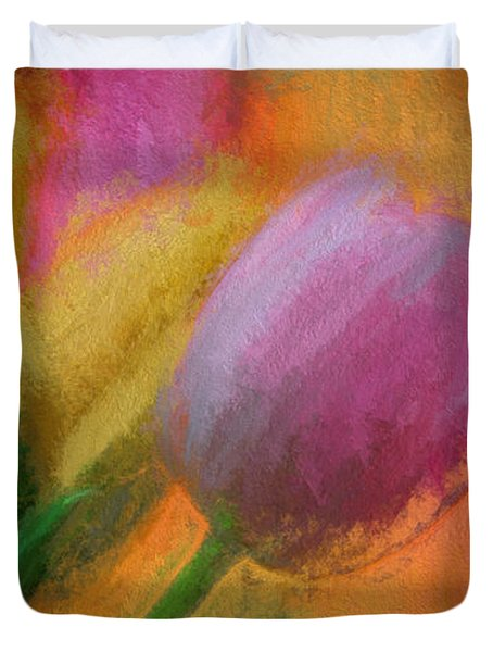 Tulip Abstraction Duvet Cover