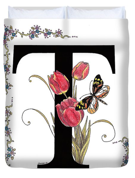 Tulip And Tiger Pierid Butterfly Duvet Cover