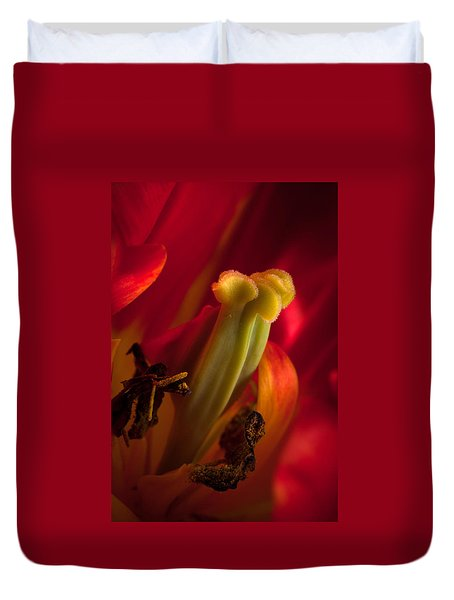 Duvet Cover featuring the photograph Tulip Attraction  by Catherine Lau