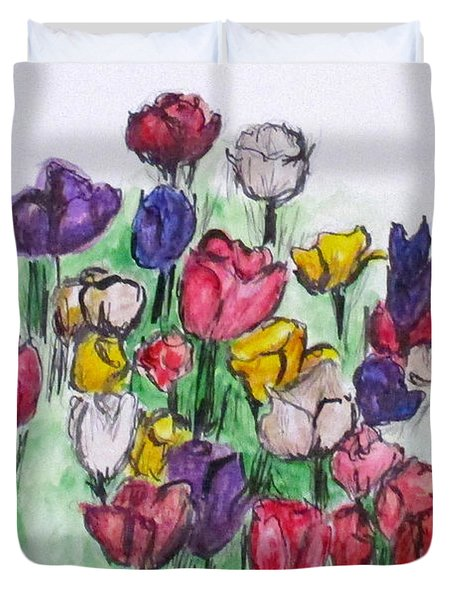 Tulip Bed Duvet Cover by Clyde J Kell