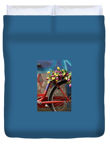 Tulip Bike Duvet Cover