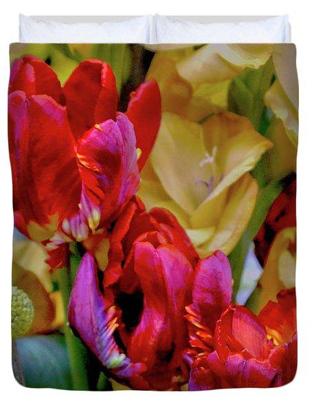 Tulip Bouquet Duvet Cover by Sandy Moulder