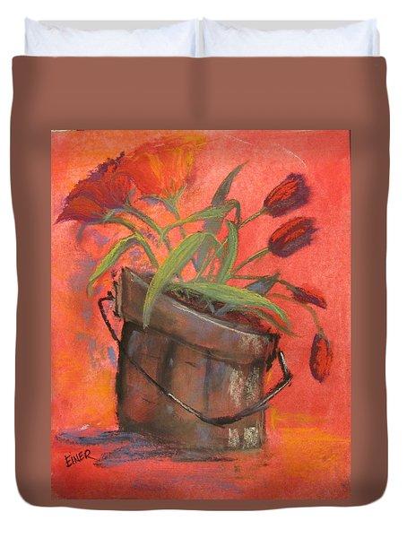 Tulip Bucket Duvet Cover by Terri Einer
