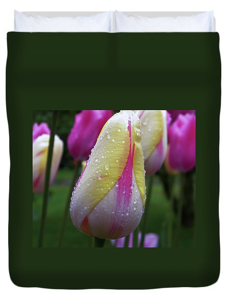 Tulip Close-up 2 Duvet Cover by Manuela Constantin
