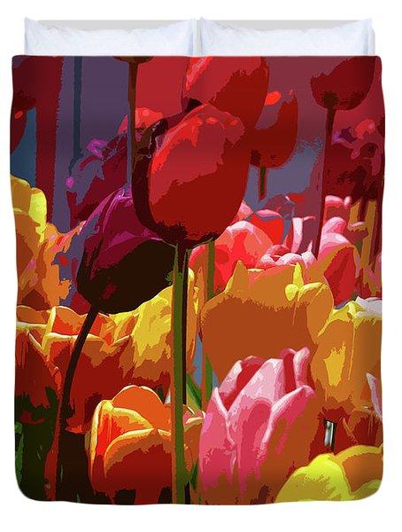 Tulip Confusion Duvet Cover