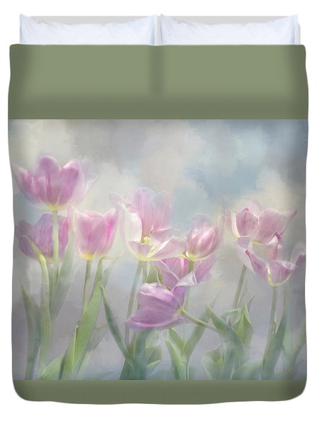 Tulip Dreams Duvet Cover by Ann Bridges