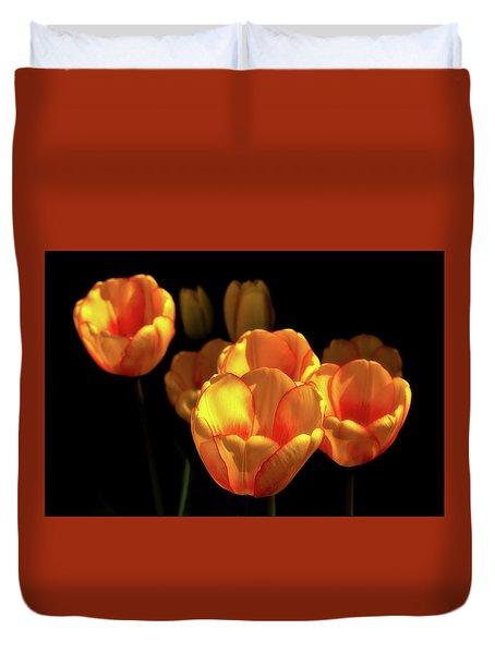 Tulip Festival Participants Duvet Cover