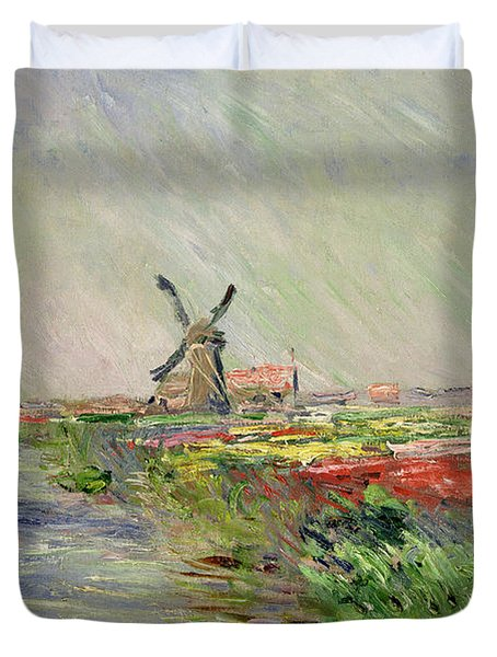 Tulip Field In Holland Duvet Cover
