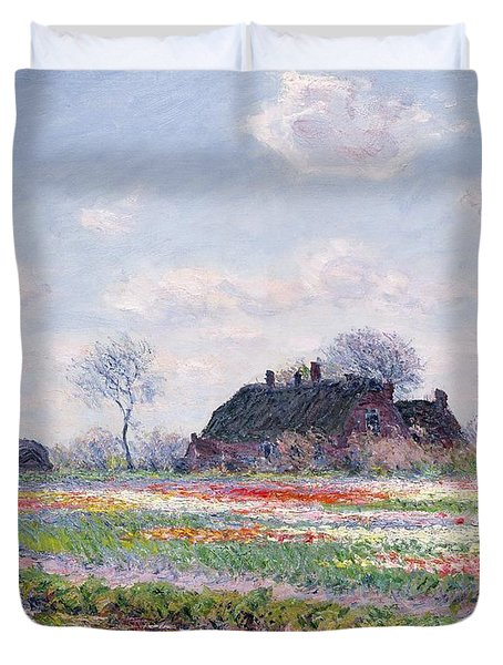 Tulip Fields At Sassenheim Duvet Cover